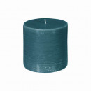 wholesale Home & Living: candle round rustic canar 6.7xh7, dark green