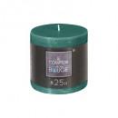 emer candela rustica rotonda 6.7xh7, verde medio