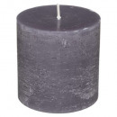 bougie ronde rustic gris 6.7x7, gris