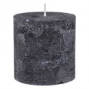 black rustic round candle d6.7 h7, black