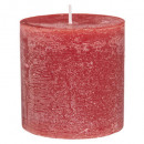 red rustic round candle d6.7 h7, red