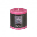 rustic round candle fuch d6.7 h7, dark pink