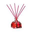 scented diffuser fr rou100ml + 6btn, dark red