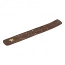 wood incense holder 25.5x3.5, 4- times assorted ,