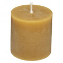 bougie votives rustic jaune x4, jaune