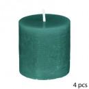 candela votiva emer x4 rustica, verde medio