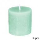 candela votiva rustica x4, verde chiaro