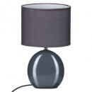 ovale grijze keramische lamp h31, grijs