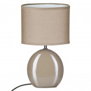 lampe ceramique oval taupe h31, taupe