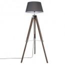 lámpara de pie trep runo gris h145, gris