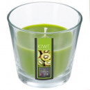 Vela perfumada de cristal kiwi nina 135g, verde.
