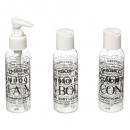 set of 3 travel bottles, transparent