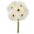 bouquet 7 gerbera h26, 3- times assorted , multico