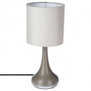 wholesale Lampes: taupe h33 metal touch lamp, taupe