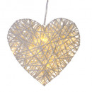 wicker heart 20 led hanging, 2- times assorted , c