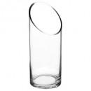 jarrón de cilindro transparente d10h25, transparen