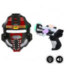 Großhandel Verkleidung & Kostüme: Box-Space-Maske + Pistole, 2- fach sortiert , mu