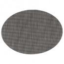 conjunto de mesa texaline oval negro, negro