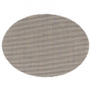 set table tex4x4 oval noir mix, gris foncé