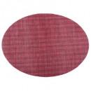 mesa puesta tex4x4 oval rojo