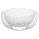 white mesh basket 27cm, white