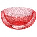 corbeille mesh rouge 27cm, rouge