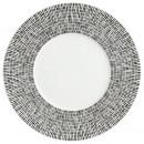 plate white asymmetry 27cm, white