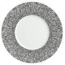 plato postre asimétrico blanco 23cm, blanco