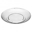 assiette plate estiva 27cm, transparent