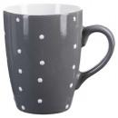 round mug light gray peas 32cl