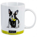 mug droit photo chien 35cl, 4-fois assorti, multic