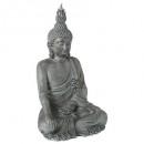 bouddha assis h106, gris