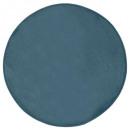 tapis velours ronde orage d90, bleu orage