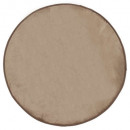 tapis velours ronde taupe d90, taupe