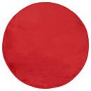 red round velvet carpet d90, red