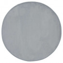 tapis velours ronde gris d90, gris