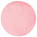 tapis velours ronde rc d90, rose clair