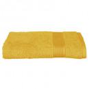 drap douche 450 ocre 70x130, jaune