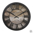 Vintage plast clock d39x7.7, brown