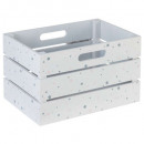 white-pink mdf crate, white
