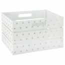white-gold mdf crate, white