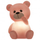 nightlight led teddy bear, 3- times assorted , col