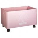 pink wheeled trunk, pink