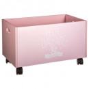 roze koffer op wieltjes, roze