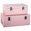 cantimplora de metal rosa x2, rosa