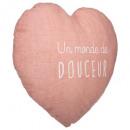 Corazón rosado de Cojín , rosa