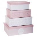 förvaringsbox x4 sötma r, rosa