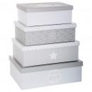 Aufbewahrungsbox x4 Weichheit g, grau