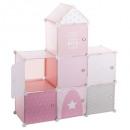 rosa, el castillo de color rosa de almacenamiento