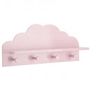 wholesale Small Furniture: patere pink cloud x4, pink